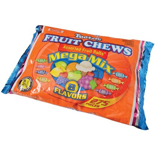 TOOTSIE FRUIT CHEWS MEGA MIX/4 LB, Sold By Case Pack Of 3 (Mega Pack Vanilla Flavor)