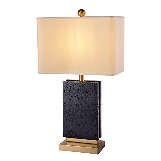 de Lámpara de de LYEJFF Moderno Negro mármol Lámpara Mesa FK3Tlc1J