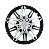 "Pilot Automotive WH544-14C-BLK Formula Performance Series Silver 14"" Wheel Cover with Black Chrome, (Set of 4)"