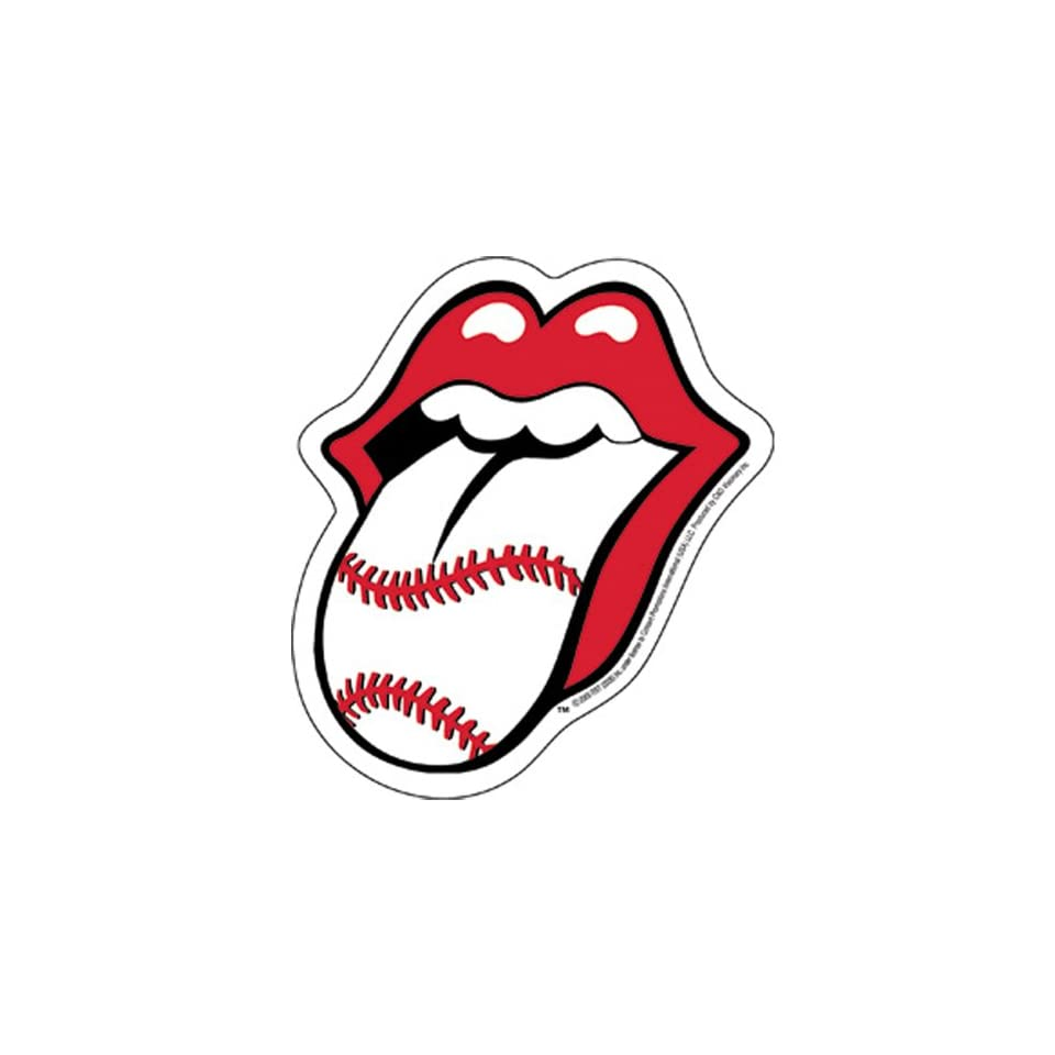 Rolling Stones   Baseball Tongue Sticker