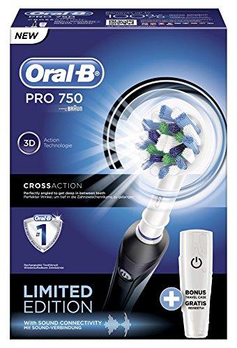 Spazzolino elettrico ricaricabile Oral-B Pro 750 CrossAction - Special  Edition  Amazon.it  Salute e cura della persona 25cf089d10de