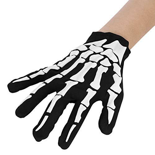 IBLUELOVER Skeleton Halloween Gloves for Men Women Elder