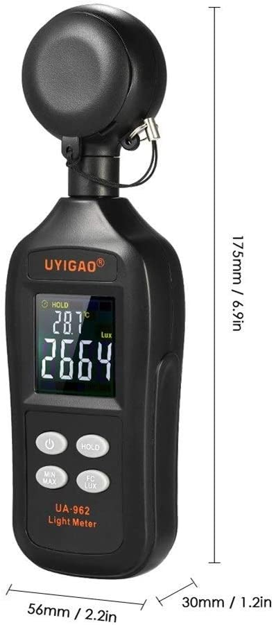 GYP Digital Measuring Instrument Equipment Handheld Type Illuminometer Light Meter Environmental Wholesale High Precision Low Battery Indication Easy Operation Abs Plastic