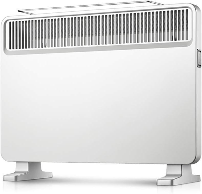 JCJ Calentadores de Convección Energéticamente Eficientes con Termostato, Bastidores de Secado y Control Mecánico de 2kW - Calentador de Panel Eléctrico Delgado Blanco Independiente para Dormitorio
