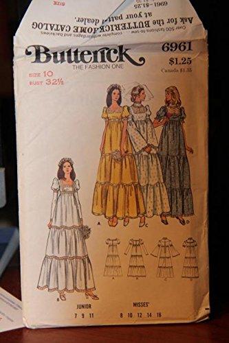 Uncut Vintage Butterick Pattern Dress - 6