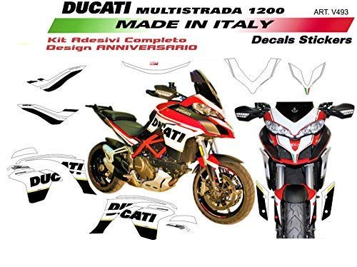 Stickers for Ducati Multistrada 1200 DVT design 90°anniversary vulturbike