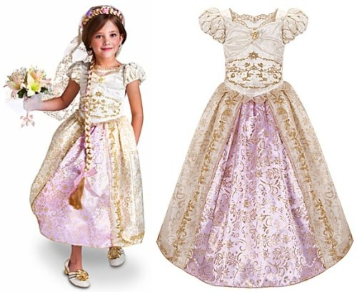 Disney Store Princess Rapunzel Wedding Gown Costume Dress for Girls Size Small 5/6  sc 1 st  Amazon.com & Amazon.com: Disney Store Princess Rapunzel Wedding Gown Costume ...