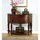 Coaster Home Furnishings Storage Entry Way Console Table/Hall Table, Brown Finish