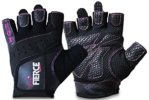 HOLIDAY DEAL - Womens Weightlifting Gloves Padded Figure 8 Lifting Straps for Powerlifting & Weight Training Best for Cycling-Comfort-Grip-Callus Protection-WashableFREE Fitness Women Workout Ebook