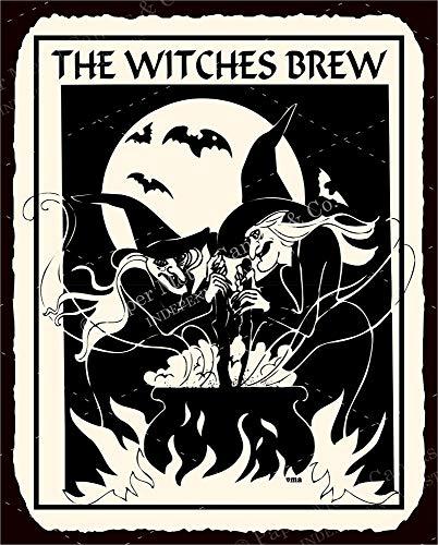 Witches Brew Halloween Vintage Retro Tin Vintage Look Metal Signs