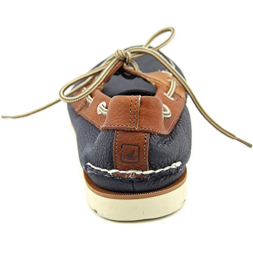 Sperry Top-Sider hombre Leeward X-Lace Boat Shoe Navy/Tan Leather