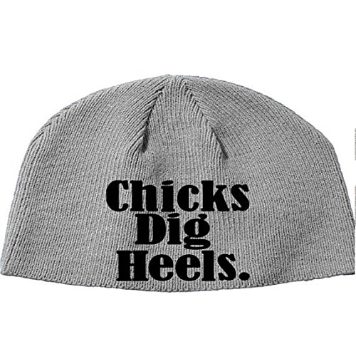 Squared Circle Chicks Dig Heels Bad Guy WWE NXT New Japan Wrestling Wrestler Beanie Knitted Hat Cap Winter Clothes (Gray)
