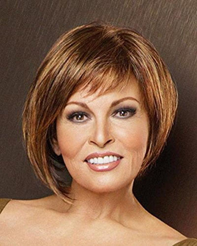 R14/25 Honey Ginger Monofilament Short Page Bewitched Wig by Raquel Welch (Ginger Sheer Wig)