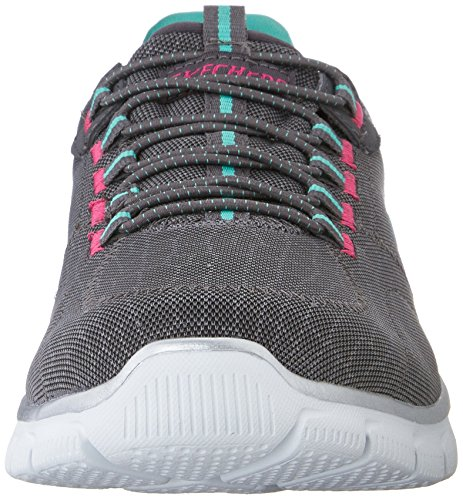 para Rock Skechers Deporte Mujer Aqua Empire Charcoal Zapatillas de Around 11qYHw5