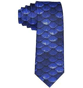 Corbatas de escamas de pescado de sirena azul marino cobalto para ...