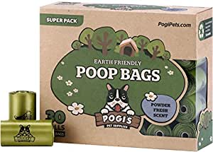 Pogi's Poop Bags - 30 Rolls (450 Bags) - Earth-Friendly, Scented, Leak-Proof Pet Waste Bags