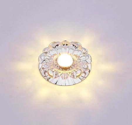 BAGZY 5W Luz de Techo Empotrada LED Redondo Panel de Luz Led Downlight Destacar Iluminaci/ón Cocina Ba/ño Corredor 3000K Blanco C/álido