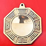Big Feng Shui Wudang Mountain Brass Bagua Mirror Brass Protection Charm + Gift BAG Y1053