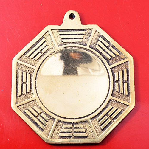 Big Feng Shui Wudang Mountain Brass Bagua Mirror Brass Protection Charm  Gift BAG Y1053