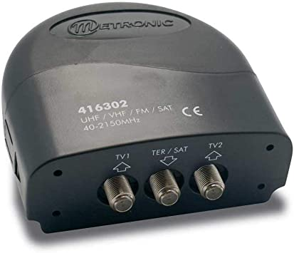 Metronic 416302 - Conmutador de antena (conectores F, 2 vías ...
