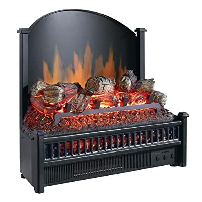 Pleasant Hearth LI-24 Electric Fireplace Logs Heater with LED Glowing Ember Bed,