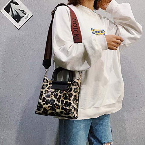 blanc à léopard bandoulière Sac pour avec jaune femme Galon wFT7wRASq