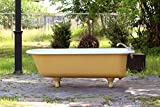 Antique 5.5' Refinished 1920's Clawfoot Bathtub India Yellow Cast Iron Porcelain Claw Bathtub Package