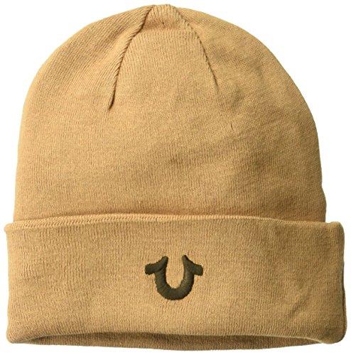 True Religion Men's Cotton Watchcap, Wheat/Brown, ()