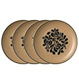 The dinner plate is the backbone of our collection. For your main meal, of course, but also use as a small platter or charger for the salad plate or soup cereal bowl. Constructed of stoneware. Microwave and dishwasher safe. Set of 4 dinner pl...