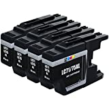 E-Z Ink (TM) Compatible Ink Cartridge Replacement for Brother LC-75 XL Black High Yield (4 Pack)