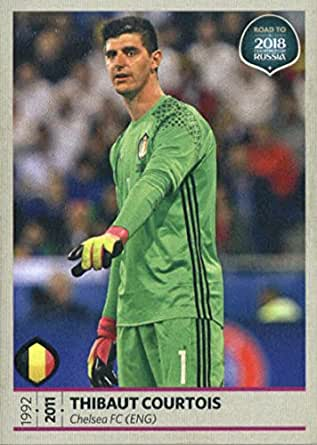 2017 Panini Road to 2018 FIFA World Cup Russia #1 Thibaut Courtois Belgium Soccer Sticker