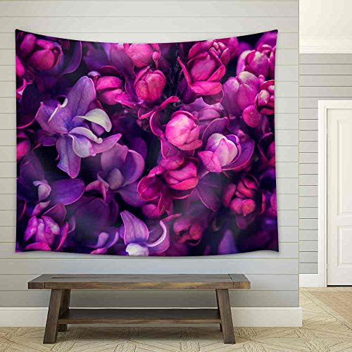 Lilac Flowers Background - Fabric Wall Tapestry Home Decor -  lilac