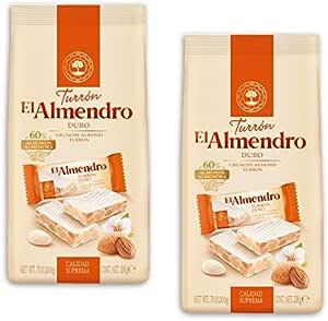 El Almendro - Pack incluye 2 Porciones Turron Duro 200gr Calidad Suprema: Amazon.es: Alimentación y bebidas