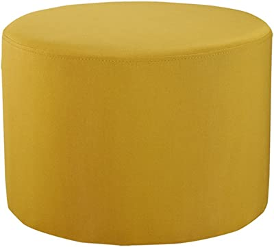 Amazon.com: Iconic Home Marley Modern Tufted Beige Leather Round ...