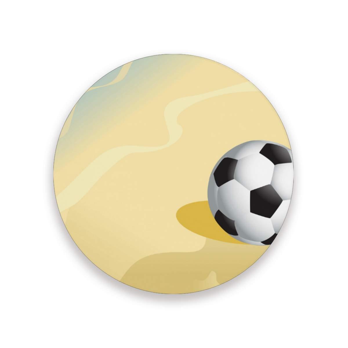 Posavasos de FANTAZIO con diseño de balón de fútbol en la playa y ...
