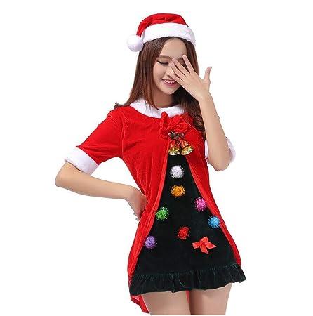 HUAN Disfraz de Navidad Disfraz navideño Traje Rojo de la Bola del ...