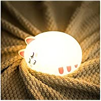 HUAJI Lámpara de Noche de Silicona con diseño de Gato para Dormir, decoración del hogar para niños con USB Fabuloso