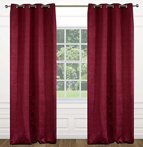 Raindrops Abstract Floral Grommet Curtain Panels (Set of ...