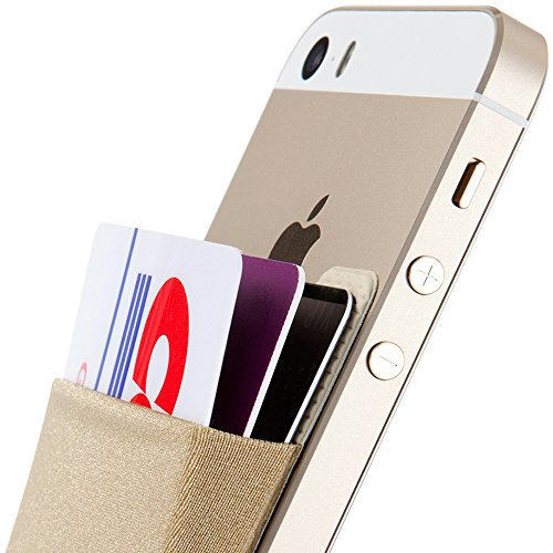 Slot Holder Card (Sinjimoru Card Holder, Stick-on Wallet functioning as iPhone Wallet Case, iPhone case with a card holder, Credit Card Wallet, Card Case and Money Clip. For Android, too. Sinji Pouch Basic 2, Beige)