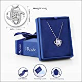 "Jewelry Sterling Silver Pendant Necklace J.Rosée Round Necklace ""Never Ever Be Apart"" Exquisite Gift Package (45cm+3)"