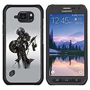 LECELL--Funda protectora / Cubierta / Piel For Samsung Galaxy S6Active Active G890A -- Metal Robot Warrior --