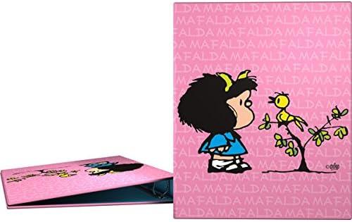 Grafoplás 88141949-Carpeta anillas A4 Diseño Mafalda Pajarito, 4 anillas de 25mm: Amazon.es: Oficina y papelería