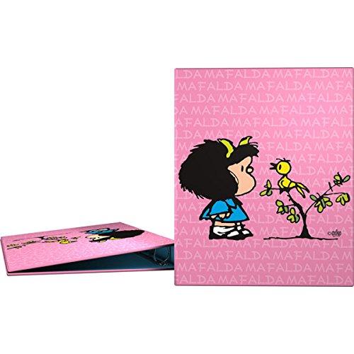 Grafoplás 88141949-carpeta Anelli A4motivo Mafalda Uccellino, 4anelli da 25mm Grafoplas