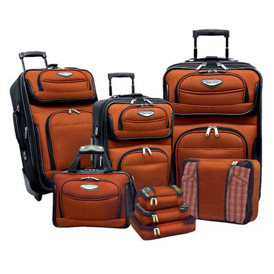 Tone Expandable Travel Set - Travelers Choice Amsterdam 8pc Set, Orange