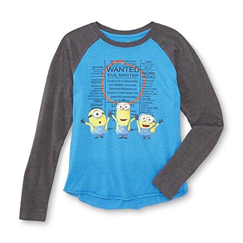 Despicable Me Raglan T-Shirt Minions Unisex (Medium 10-12) (Despicable Me Halloween)