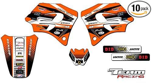Team Racing Graphics kit for 1998-2001 KTM SX 65, ANALOG Base kit