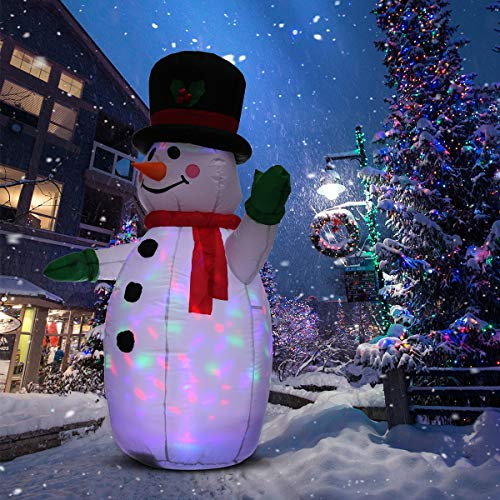UNIFEEL 4FT Inflatable Snowman for Christmas and New...