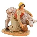 Fontanini Julia with Calf Italian Nativity Village Figurine