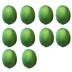 Buytra 10 Pack Artificial Fake Lemons Limes Fruit for Vase Filler Home Kitchen Party Decoration 2