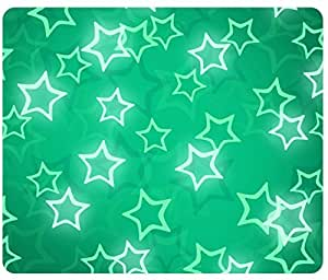 Abstract Star Pattern Glowing Star pattern Mousepad,Custom Rectangular Mouse Pad by runtopwell